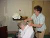 Our hairdresser, Julie
