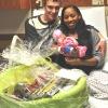 Friends of the Gloversville Public Library celebrate with Littauer's Birthing Center