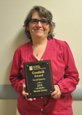 Second-quarter Goodwill Award winner Michelle Beckley