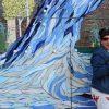 Nathan Littauer Unveils Mosaic Waterfall